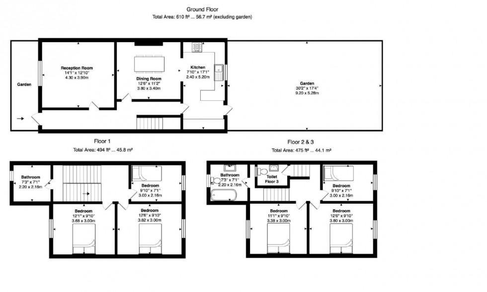 Floorplan for Windsor Road, London