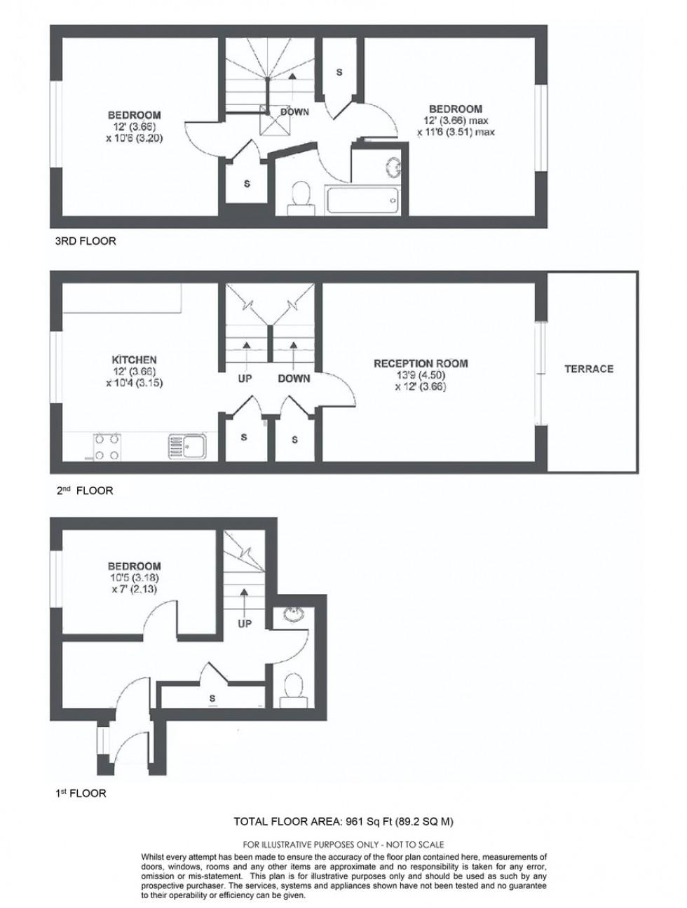Floorplan for Annesley Walk, London