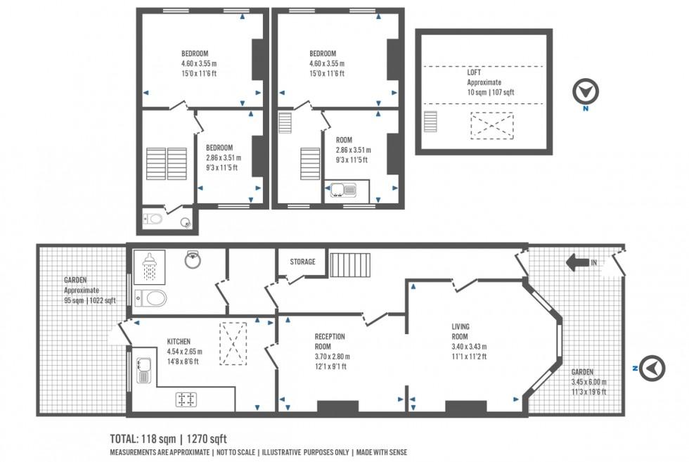 Floorplan for Mayton Street, London